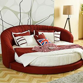 红色欧式写意大圆床